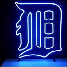 7a61c0fa9f6720 Business Custom NEON SIGN board For Basketball NBA Detroit Tigers REAL  GLASS Tube BEER BAR PUB