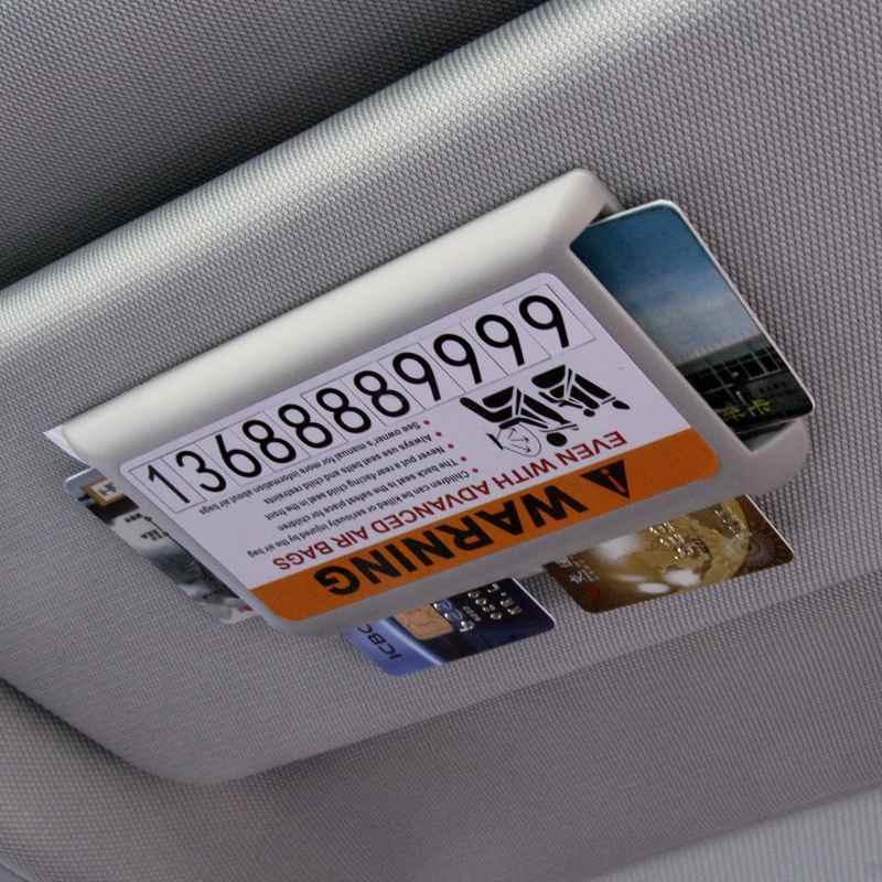 Temporary Car Parking Telephone Number, Car Sun Visor Name Card Holder Parking car Fuel card holder 4 cards sun visor holder number