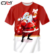 CJLM Christmas Tshirts Men Funny Print Santa Claus 3D T-shirt Homme Fit Slim Fitness Undershirts O Neck Tee Shirts Oversize 7XL(Hong Kong,China)