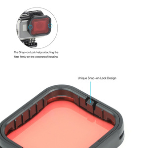 Image 4 - SOONSUN 3 Pack Filters Kit Red Magenta Snorkel Lens Color Filter for GoPro HERO 5 6 7 Black Super Suit Housing Case Accessories