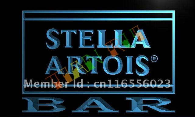 La451 Bar Stella Artois Beer Led Neon Light Sign In Plaques Signs