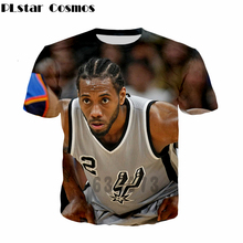 PLstar Cosmos Latest design Men Women Short Sleeve t shirt celebrity star Leonard/Tim Duncan 3d print Fashion summer T shirts