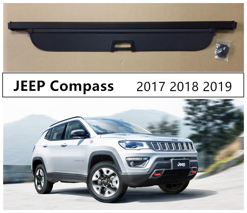 Rear Trunk Cargo Cover Security Shield For <font><b>JEEP</b></font> <font><b>Compass</b></font> 2017 <font><b>2018</b></font> 2019 High Qualit Auto <font><b>Accessories</b></font> image