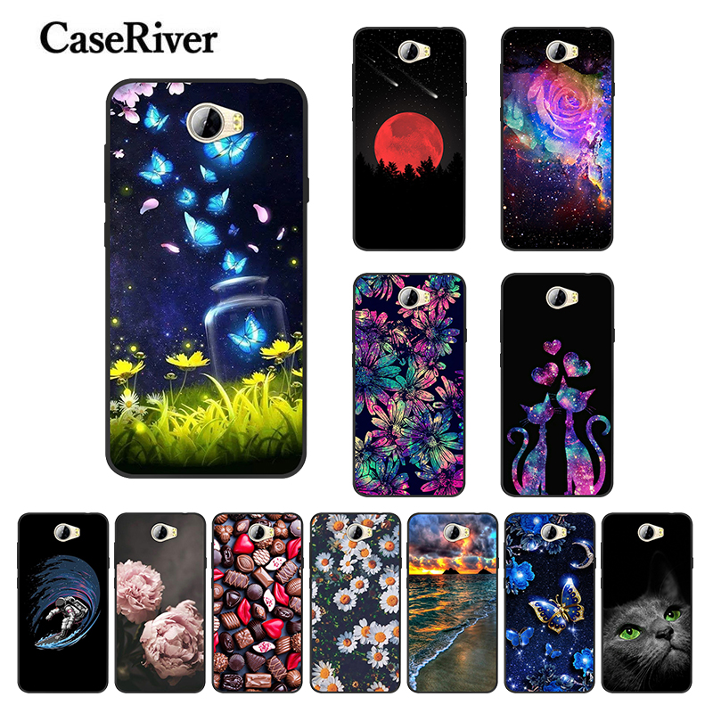Soft Silicone <font><b>Huawei</b></font> Y5 II Y5 2 Case <font><b>Cover</b></font> Black Phone Case For Honor 5A LYO-L21 <font><b>CUN</b></font>-<font><b>U29</b></font> Coque Bumper on Y6 II Compact Funda image