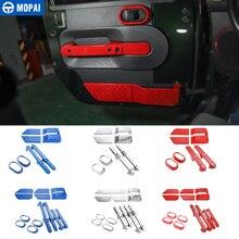 MOPAI ABS Auto Porta Interna Maniglia Decorazione Anello di Copertura Adesivi per Jeep Wrangler JK 2007-2010 Accessori Auto Styling