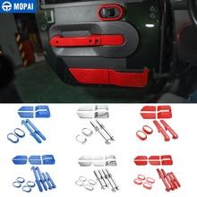 MOPAI ABS Автомобильный интерьер украшение для дверной ручки кольцо Крышка наклейки для Jeep Wrangler JK 2007-2010 автомобильные аксессуары для укладки