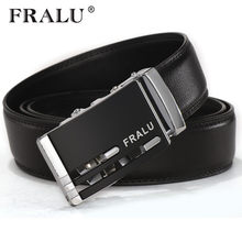FRALU Fashion Designer Genuine Leather Belt Men Luxury Famous Brand High quality Strap Male Ceinture Homme Cinto Masculino(China)