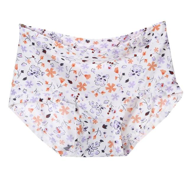 b9caa814a1e22f Women panties 2017 women Soft loose polyester panties middle rise ladies  print panties for women briefs calzones mujer algodon