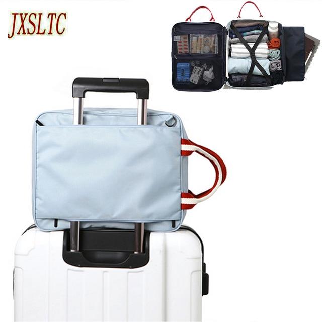 394b50a7a003 JXSLTC Nylon organizer Duffle Bag Men Travel storage Bags Foldable Suitcase  Weekend Bag Female Packing Cubes