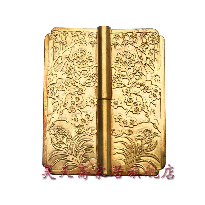 ФОТО [Haotian vegetarian] antique Ming and Qing furniture copper fittings / carved hinge / Chinese decoration accessories HTF-052