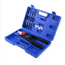 1 set Hand Nut/Thread Riveter Kit Rivet Gun with Nosepieces 5mm, 6mm, 8mm, 10mm, 12mm Nut Rivet Gun(China)