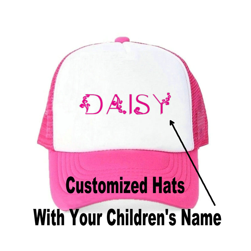 af3a112295849 Children Customized Name Snapback Hats Printing Your Kids Name Baseball Cap  Boy Girl Name Hat For