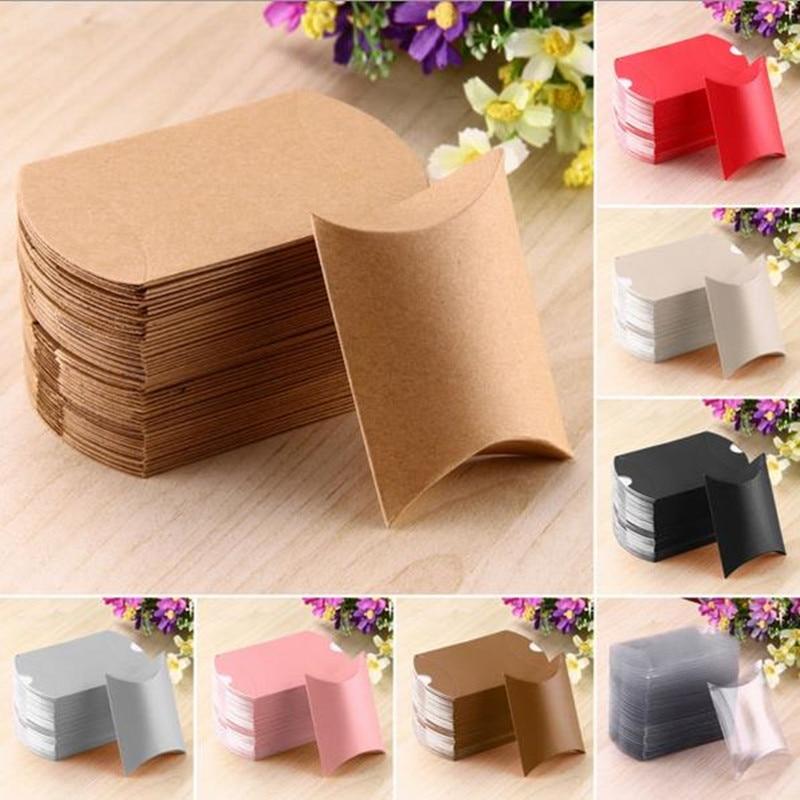 50 Pcs Cute Pillow Anti Scratch Box Sweet Boxes Wedding