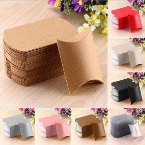 50 Pcs Cute Pillow Anti-Scratch Box Sweet Boxes Wedding Party Favour Gift Candy Boxes cookie food snack Boxes free shipping