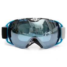 Brand Professional Unisex Adults Spherical Dual Lens Mirror Snowboard Anti Fog UV Ski Goggle Eyewear