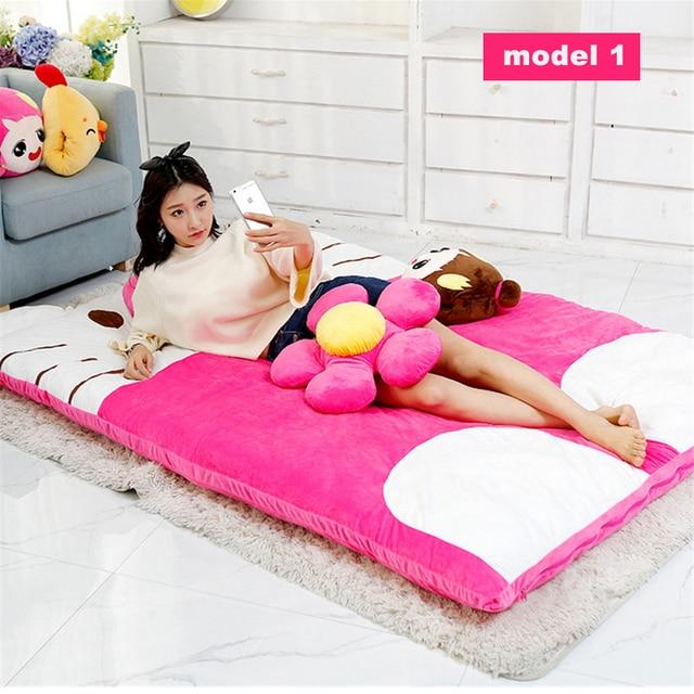 Fancytrader Pop Plush Hello Kitty Beanbag Giant Stuffed Soft Double Bed Carpet Sofa Tatami Mattress 200cmX150cm