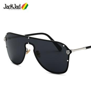 f3995a8517 JackJad 2018 moda escudo estilo mujeres hombres gafas De Sol Popular fresco  del océano del tinte lente marca De diseño gafas De Sol Oculos De Sol 3612