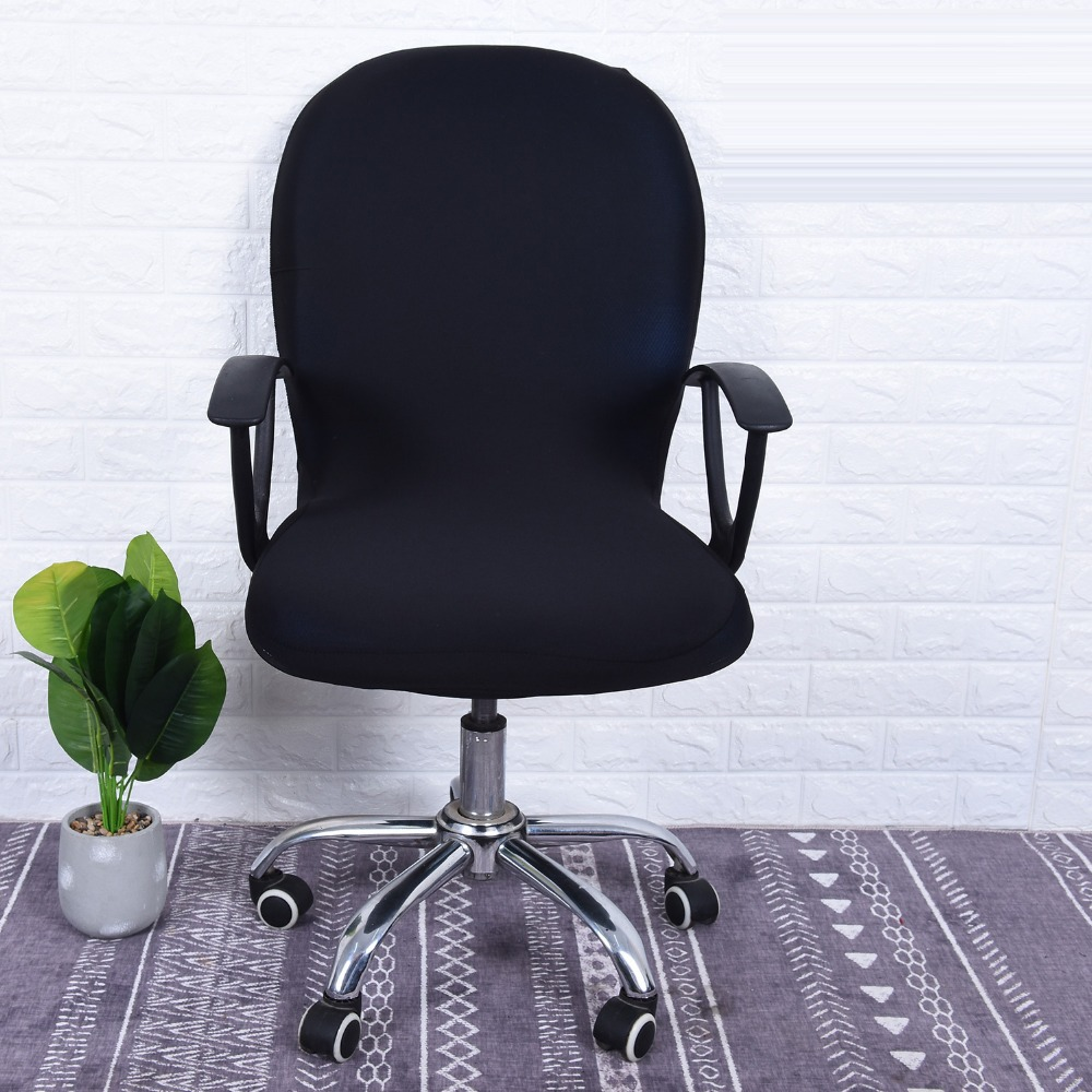 Plain Color Office Chair Seat Cover Slipcovers Computer