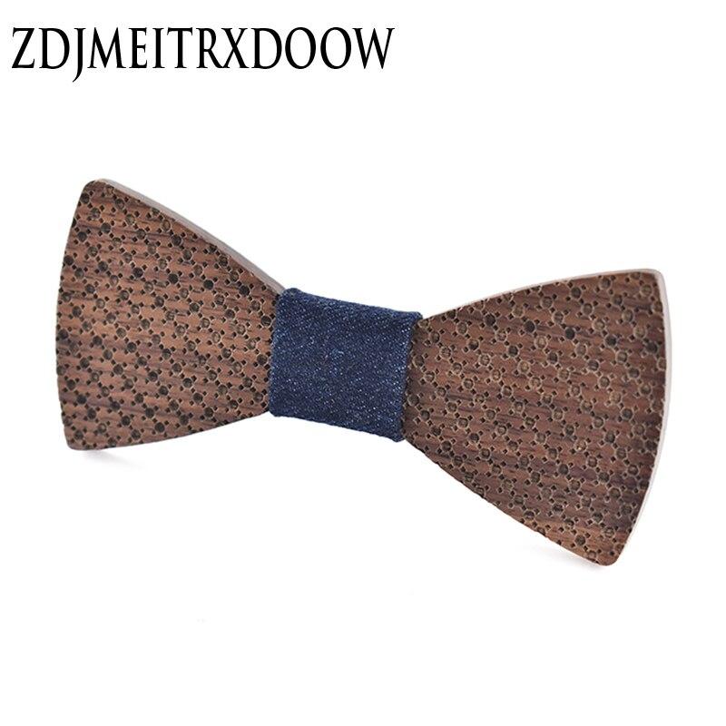 ZDJMEITRXDOOW Brand Gifts For Men Polka Dot Bowtie  Wooden Bow Tie Marriage Wedding Krawatte Bow Ties For Men