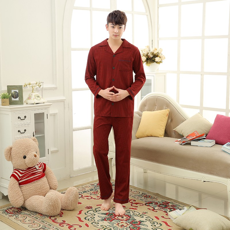 Men\'s Cotton Polyester Pajama Sets RBS-C LYQ1414 25