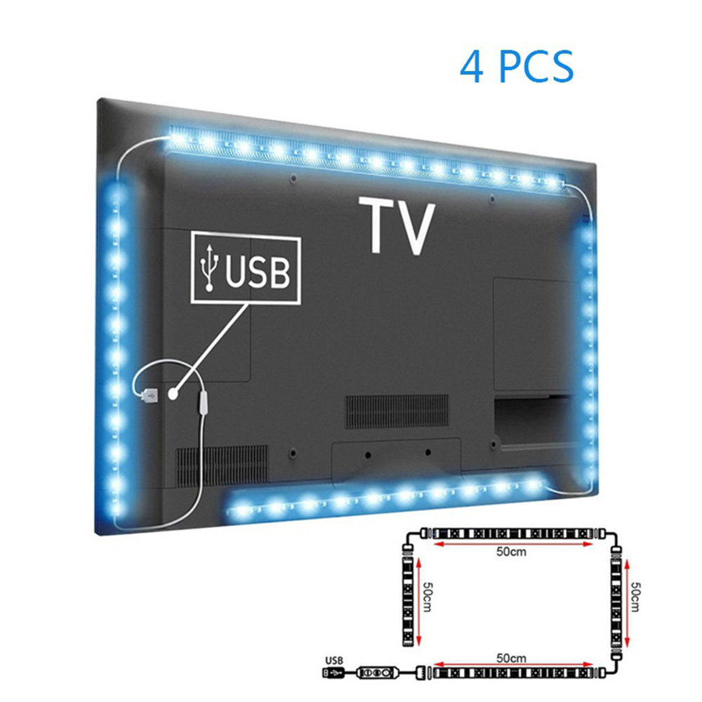 Image 3 - 5V 50CM 1M 2M LED Strip Light USB Cable Power Lamp SMD 5050 RGB 24KEY RGB IR Remote Control Lamp Tape For TV Background Lighting-in LED Strips from Lights & Lighting