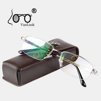 Multifocal Progressive Reading Glasses Men For Computer Sight Clear Adjustable Eyeglasses Women Bifocal +1.0 1.5 2.0 2.5 3 3.5 4 - DISCOUNT ITEM  50 OFF Apparel Accessories