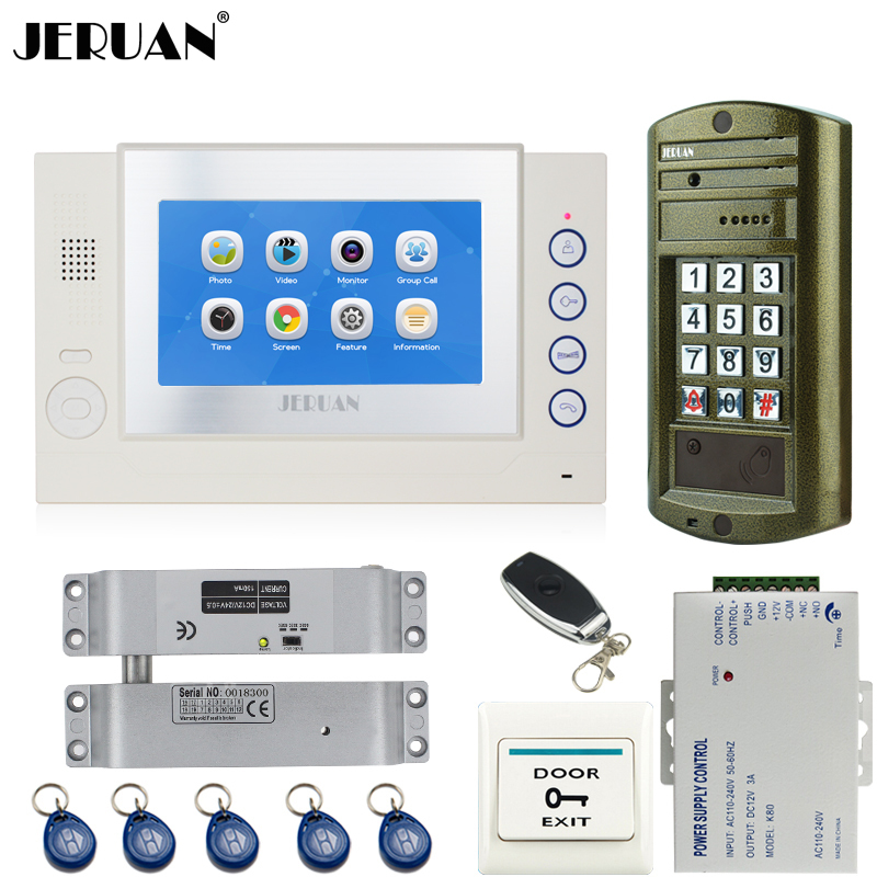 HOME Wired NEW 7`` Touch screen Video Door Phone Intercom System kit  Metal waterproof password keypad HD Mini Camera 8GB CardHOME Wired NEW 7`` Touch screen Video Door Phone Intercom System kit  Metal waterproof password keypad HD Mini Camera 8GB Card