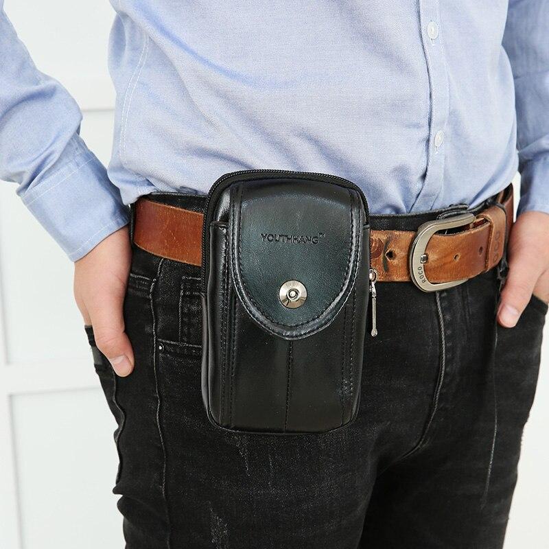 Mode män fickor mobiltelefon bälten bära bälten 5-6 tums - Bälten väskor - Foto 2
