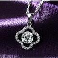 Effie Queen 2017 Spring New Trendy Women Necklace 1.25ct Austrian Zircon Clover Design Pendant Necklace for Girlfriend DN79