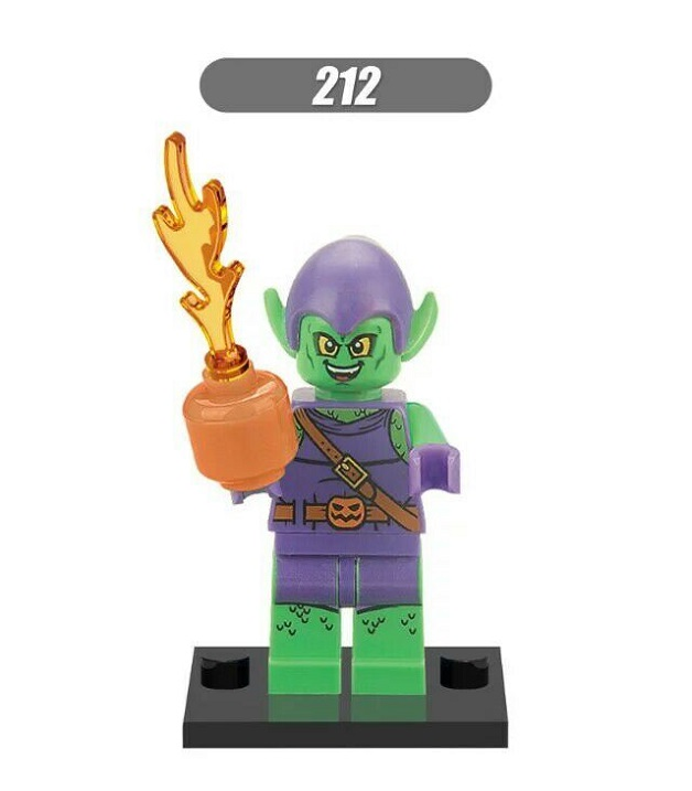 Single Sale Super Heroes Green Goblin Aquaman Doctor Octopus Bricks Assemble Model Building Blocks Children Gift Toys XH 212