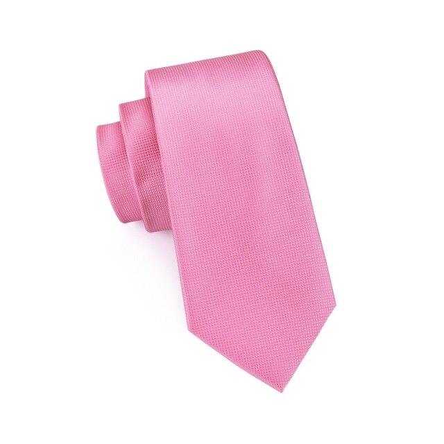SN-401 New Style Solid Tie Men's 100% Jacquard Woven Neckties Handkerchief Cufflinks Set for Men's Formal Wedding Party Groom 3