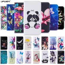Leather Flip Case Cover For Coque Sony Xperia 10 Wallet Cute Cartoon Panda Phone Cases Funda