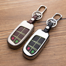 New Fashion  Noctilucent Car Key Protective Case Cover For Jeep Series Remote Zinc Alloy key chain