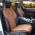 Apenas 2 Motorista assento Especial tampas de assento do carro de Couro Para Dacia Duster Sandero Logan acessórios do carro styling carro cobre
