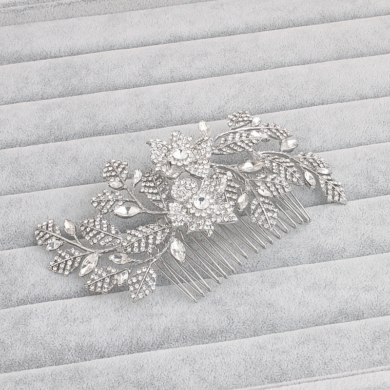 Tiara Hair Comb Wedding Hair Accessories Bridal Headpiece Clips Hairpin Ornaments Jewelry Clip Pince Cheveux Bride WIGO0799 2 pieces lot kids hair clips crown snap clip crystal hairpin barrette hair accessories girls clips