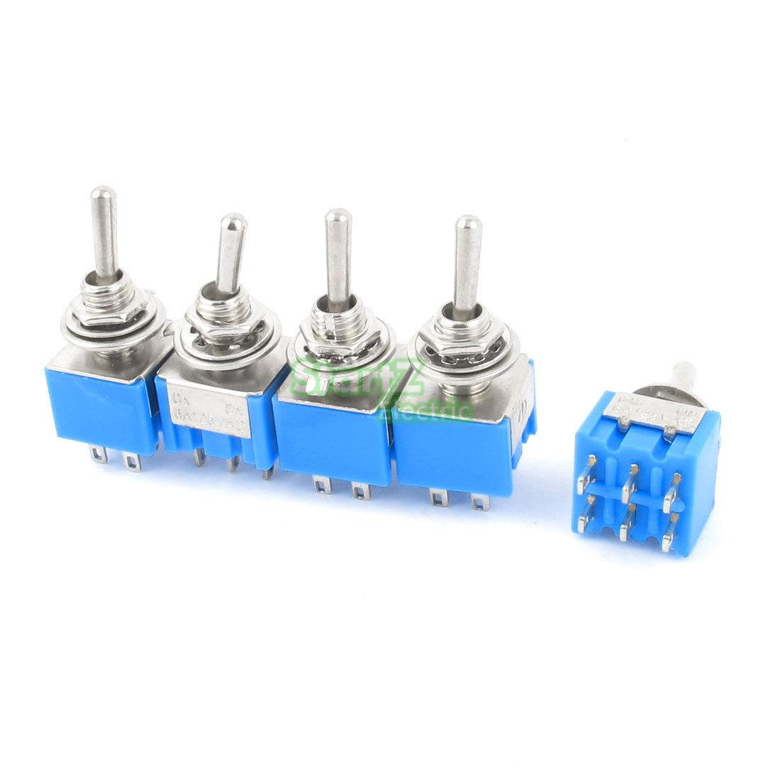 6 wire toggle switch toyota wiring diagram color codes 5pcs dpdt on 2 positions pin latching miniature