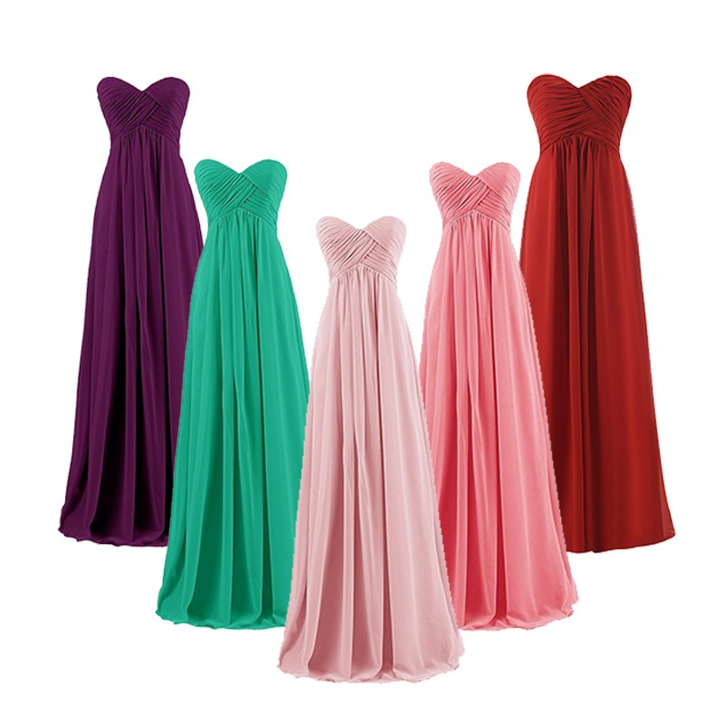 US $29.38 41% OFF|Chiffon Bridesmaid Dresses Wedding Party Prom Gown dress  2019 plus size Burgundy Bridesmaid Dresses Ladies Long Gowns black-in ...