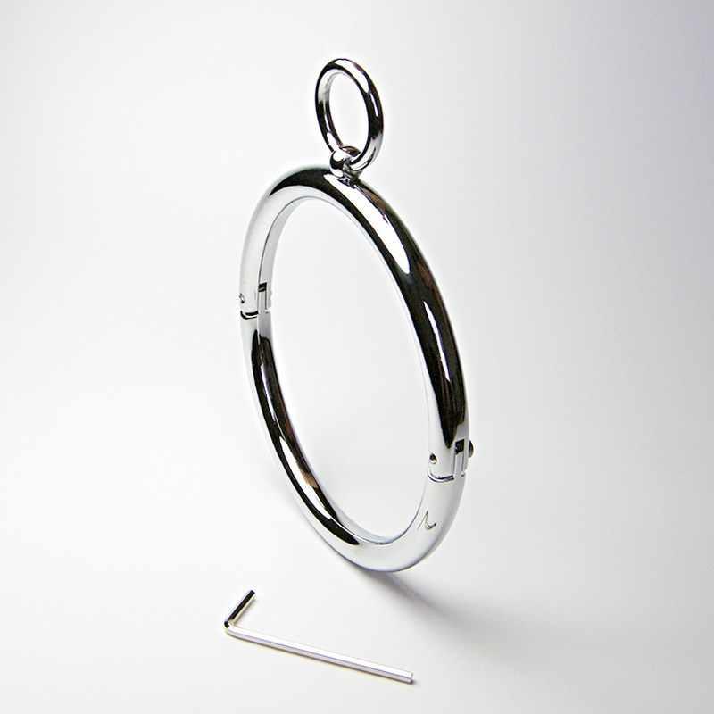 Meselo Нержавеющаясталь с замком, с круглой горловиной, с шестигранной головкой wrenchsex сдерживающий бондаж замок колье Цепочки и ожерелья уплотнительное кольцо секс-игрушка для взрослых игры