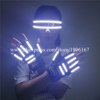LED Luminous Glasses Bar Night Stage Lighting Show Party Dancing Gloves Halloween Christmas Grand Event Illuminated Led Props