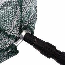 JSM 1.5m Aluminum Alloy Landing Net Nylon Mesh Extending Hand Net For Fish Folding Carp Fishing Dip Net Scoop Fishing Net