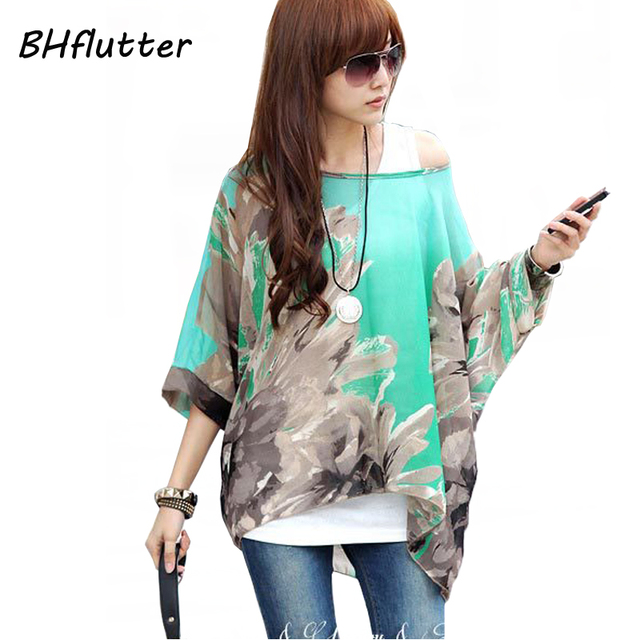 Women Blouses and Tops New Fashion 2017 Floral Print Short Sleeve Summer Blouse Plus Size 4XL 5XL 6XL Women Chiffon Shirts Blusa