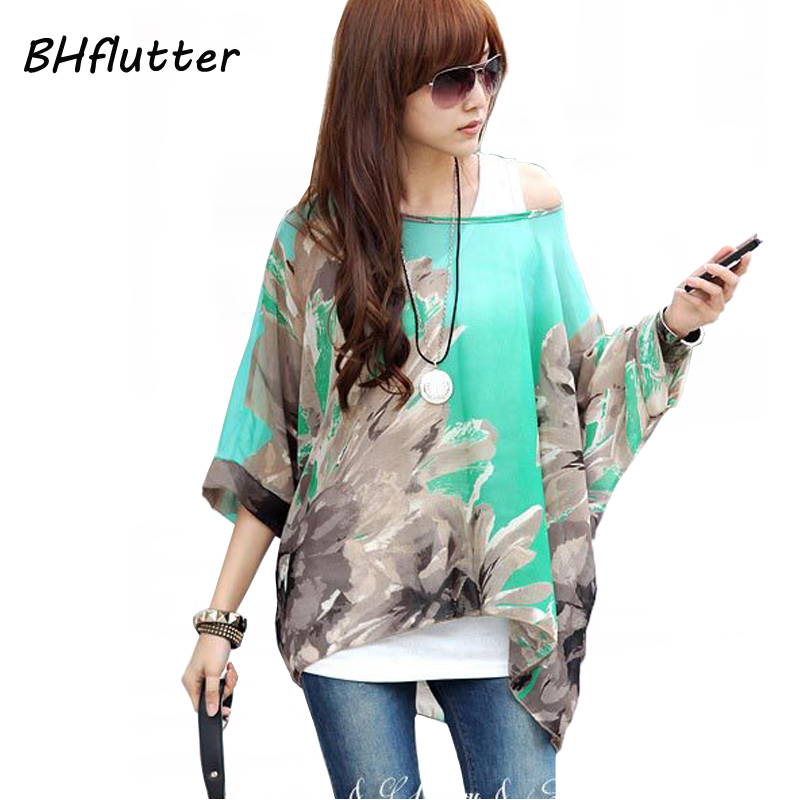 Women Blouses And Tops New Fashion 2018 Floral Print Short Sleeve Summer Blouse Plus Size 4XL 5XL 6XL Women Chiffon Shirts Blusa