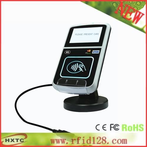 13.56MHZ  Contacless USB RFID Reader Writer for ACR123U With LCD Compatible EMV-based Payment For ISO 14443 A  B cards +SDK Kit