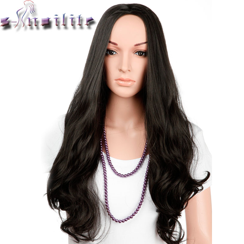 S-noilite Wigs 25 Inches Natural Curly Fancy Dress Womens Ladies Half Full Hair Wig Synthetic Hairpiecess