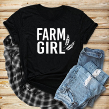 Farm Girl Shirt Farmers Wife Country Girl  graphic funny cotton grunge tumblr t-shirt