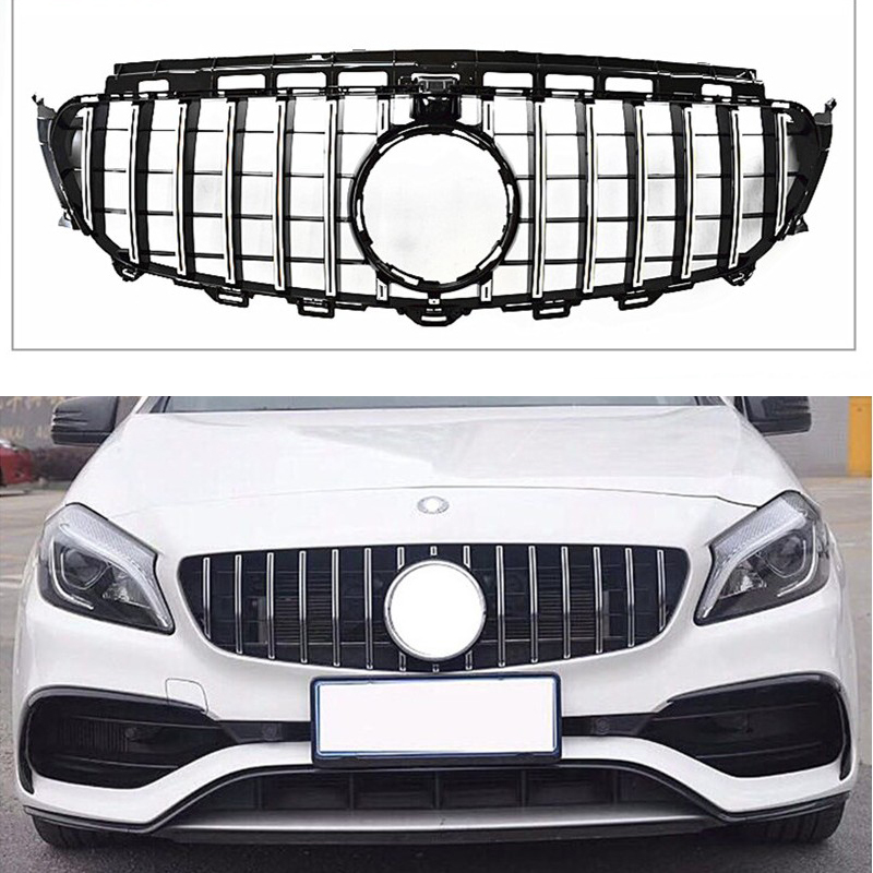 Front Grill Suitable for Mercedes Benz NEW CLA Class W117 GTR 2016+CLA200 CLA220 CLA260 CLA45 ABS Material Without emblem