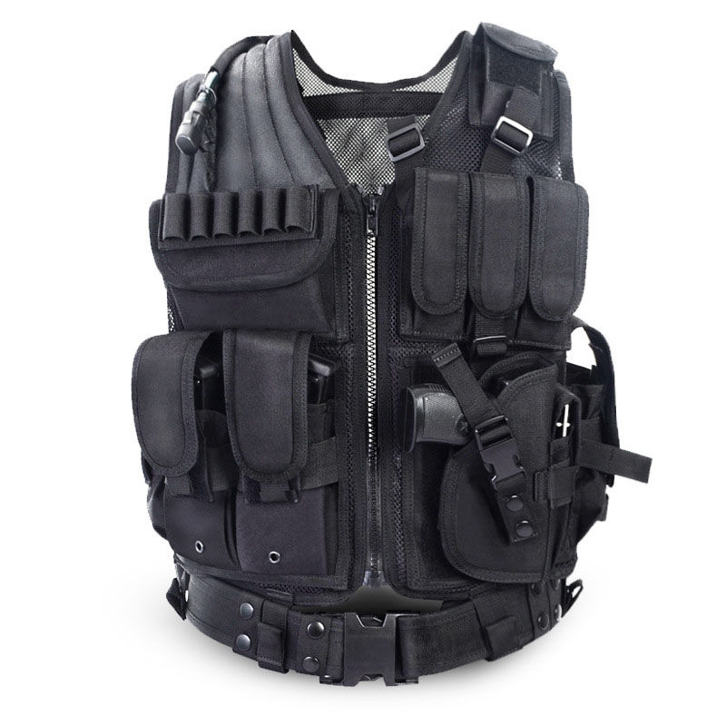 ФОТО 2016 Police Tactical Vest Outdoor Camouflage Military Sports Wear Hunting Vest Army Swat Molle Vest Black