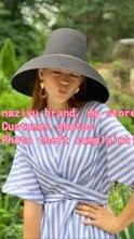 01901 hh7293 2019 חדש desige קיץ נייר גבוהה למעלה אופנה חג שמש כובע נשים פנאי חוף כובע