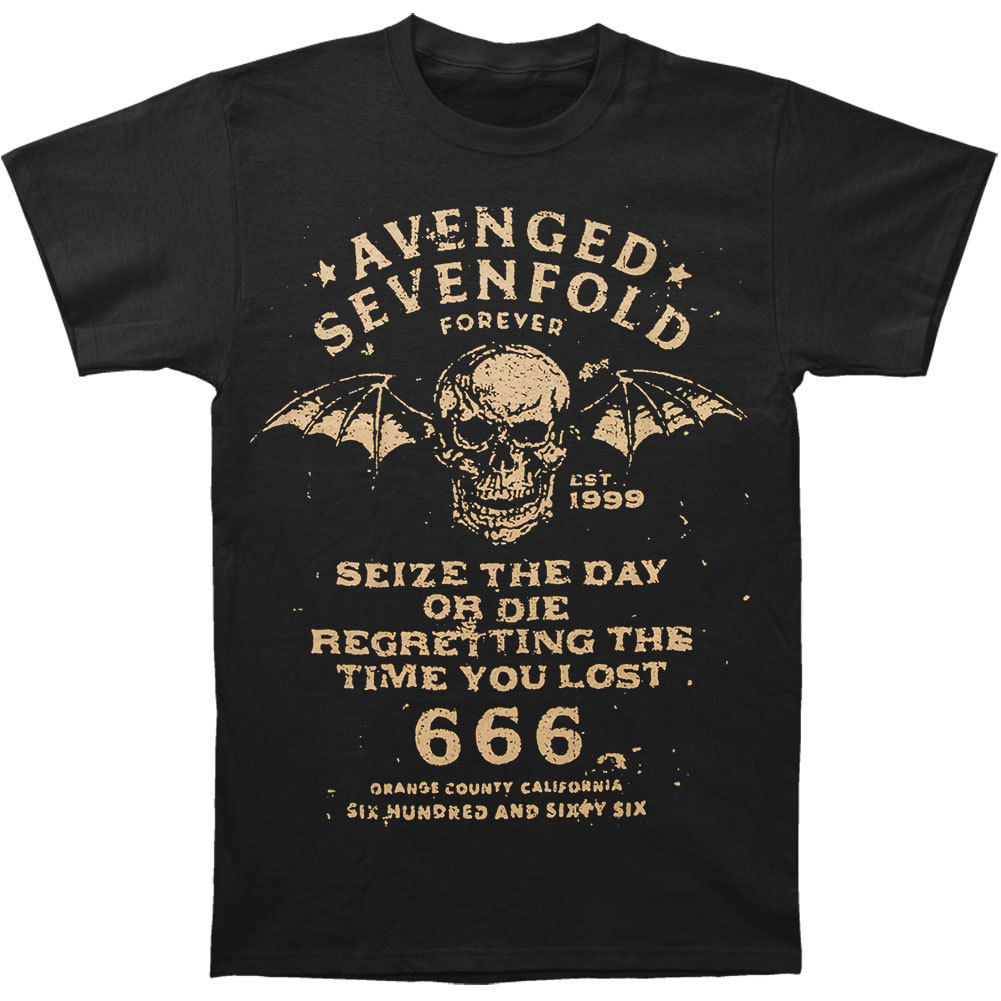 Avenged Sevenfold MenS Seize The Day T Shirt Small Black Rockabilia