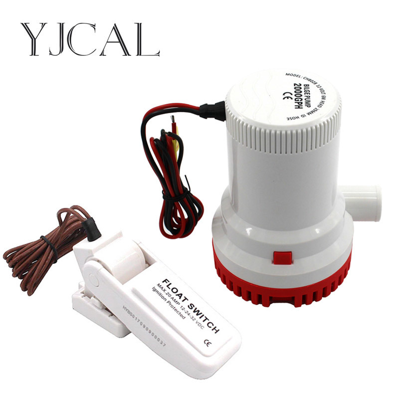 Submersible Electric Water Pump 2000GPH DC 12V 24V Bilge Pump And Level Controller Float Switch Combination For Boats new 20 amp automatic electric pump float switch dc12v level controller r11 drop ship